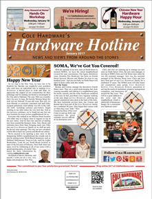 Cover of Cole Hardware's Hardware Hotline (Jan 2017)