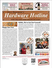 Cover of Cole Hardware's Hardware Hotline (Jan 2017)